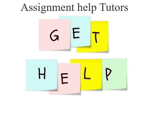 Assignment help Tutors