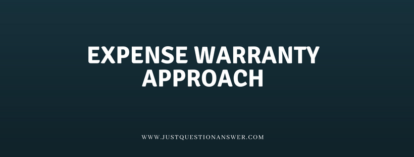 Expense Warranty Approach